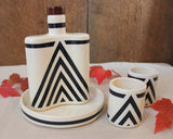 Chevron Flask Set
