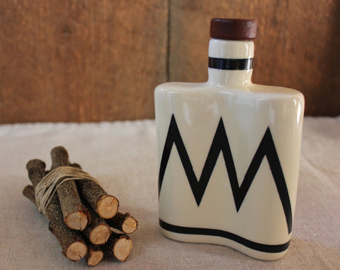 Mountain Ceramic Flask