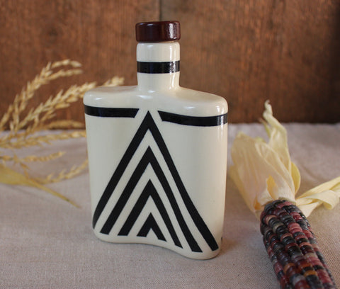 Chevron Ceramic Flask