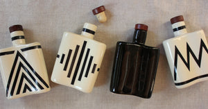 Art Deco Ceramic Flask