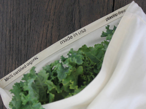 2 Produce Bags-100% certified organic cotton