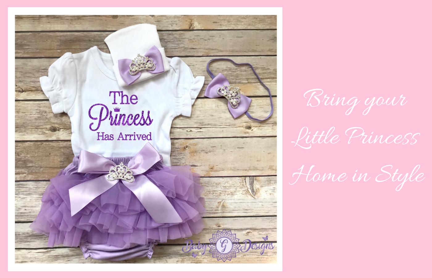 75e2a67a3 Coming Home outfits baby girl – BabyGdesigns13