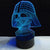 Darth Vader Color Changable 3D Lamp