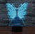 Butterfly Color Changable 3D Lamp