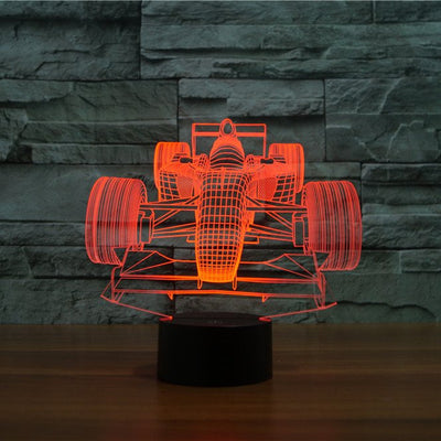 Formula One Car Color Changable 3D Lamp