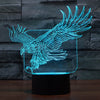 Eagle Color Changable 3D Lamp
