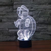 Turtle Color Changable 3D Lamp