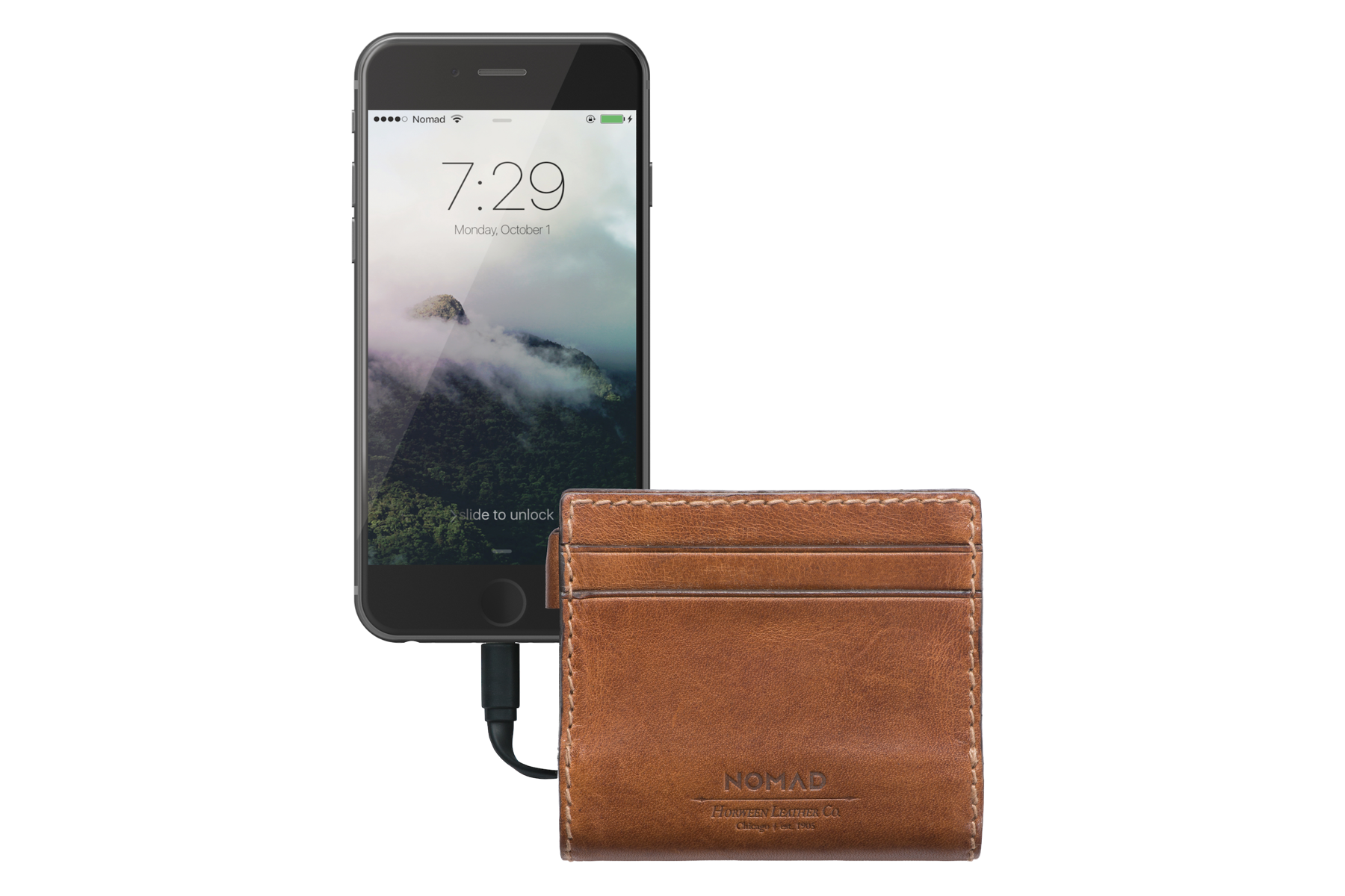 Leather Charging Wallet Slim by Nomad - Akin Tech