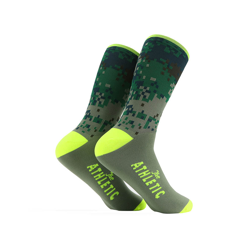 Digi Camo Sock - Lemon Curd Top