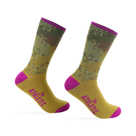 Digi Camo Sock - Raspberry Top