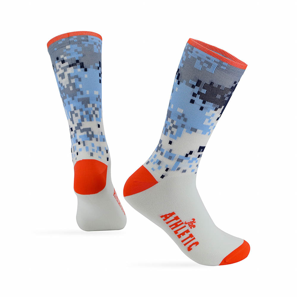 Digi Camo Sock - Orange Rind Top