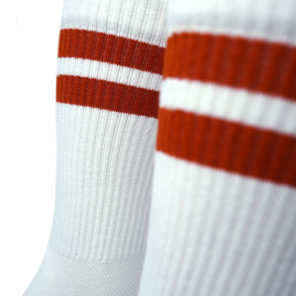 Triple Double Sock White & Rust New Classic