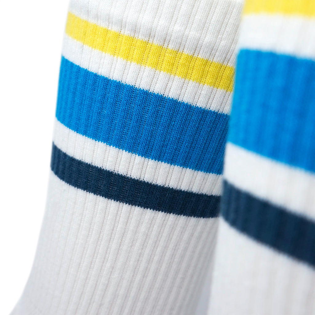Triple Double Sock White - Blue Splash