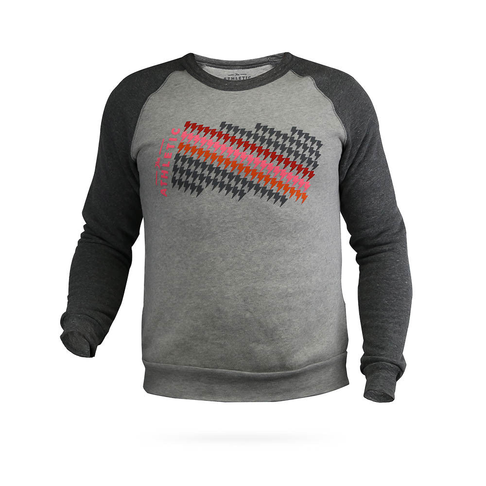 Lightning Bolt Gradient Raglan Sweatshirt