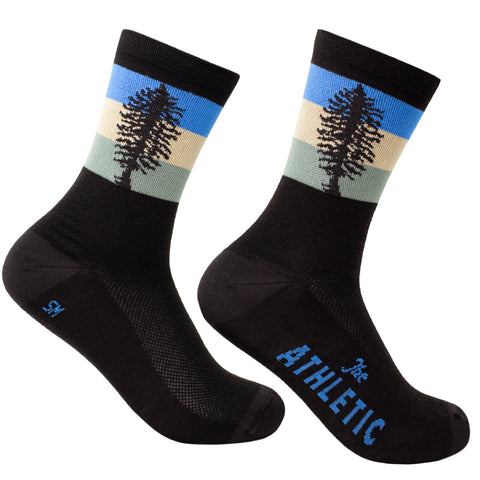 Cascadia Thin Wool Socks - Wood