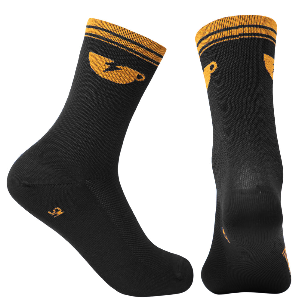 Coffee Socks - Black Ambre