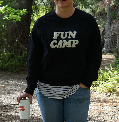 Fun Camp French Terry Black Sweater