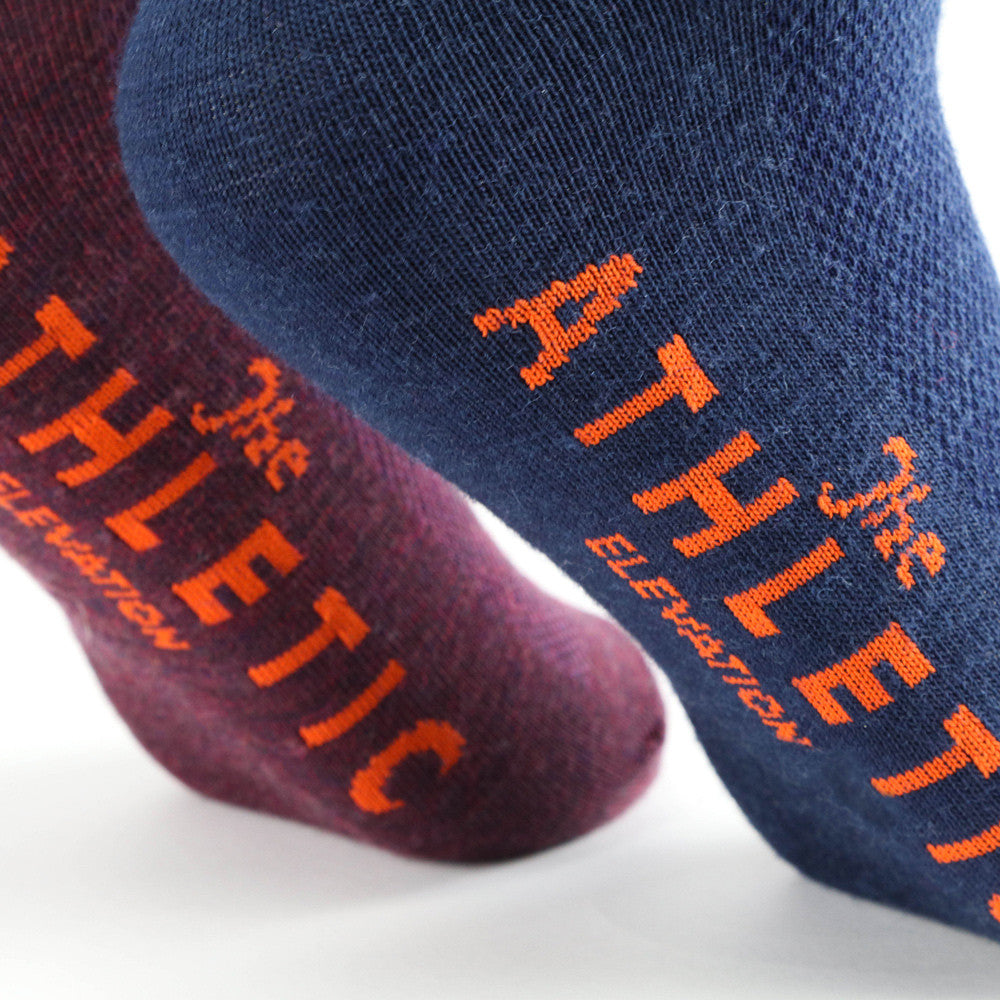 Elevation Wool Sock - Merlot & Navy