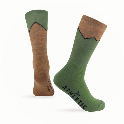 Elevation Wool Sock - Tourmaline & Cumin