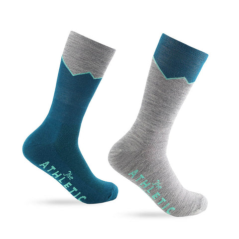 Elevation Wool Sock - Lapis & Grey