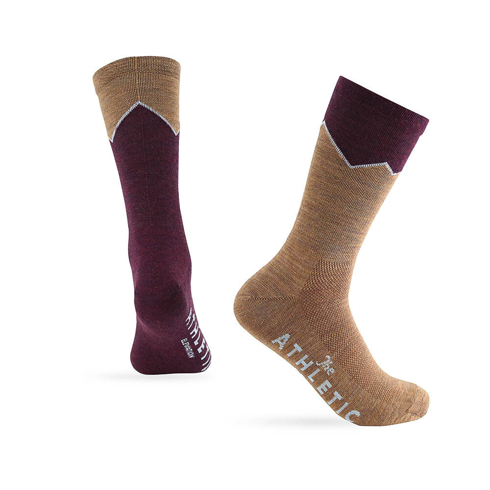 Elevation Wool Sock - Merlot & Cumin