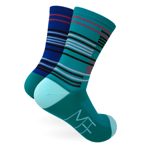 Futurism Stripes Mismatched Socks