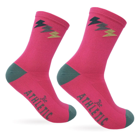 Three Bolt Sock - Hot Hot Pink