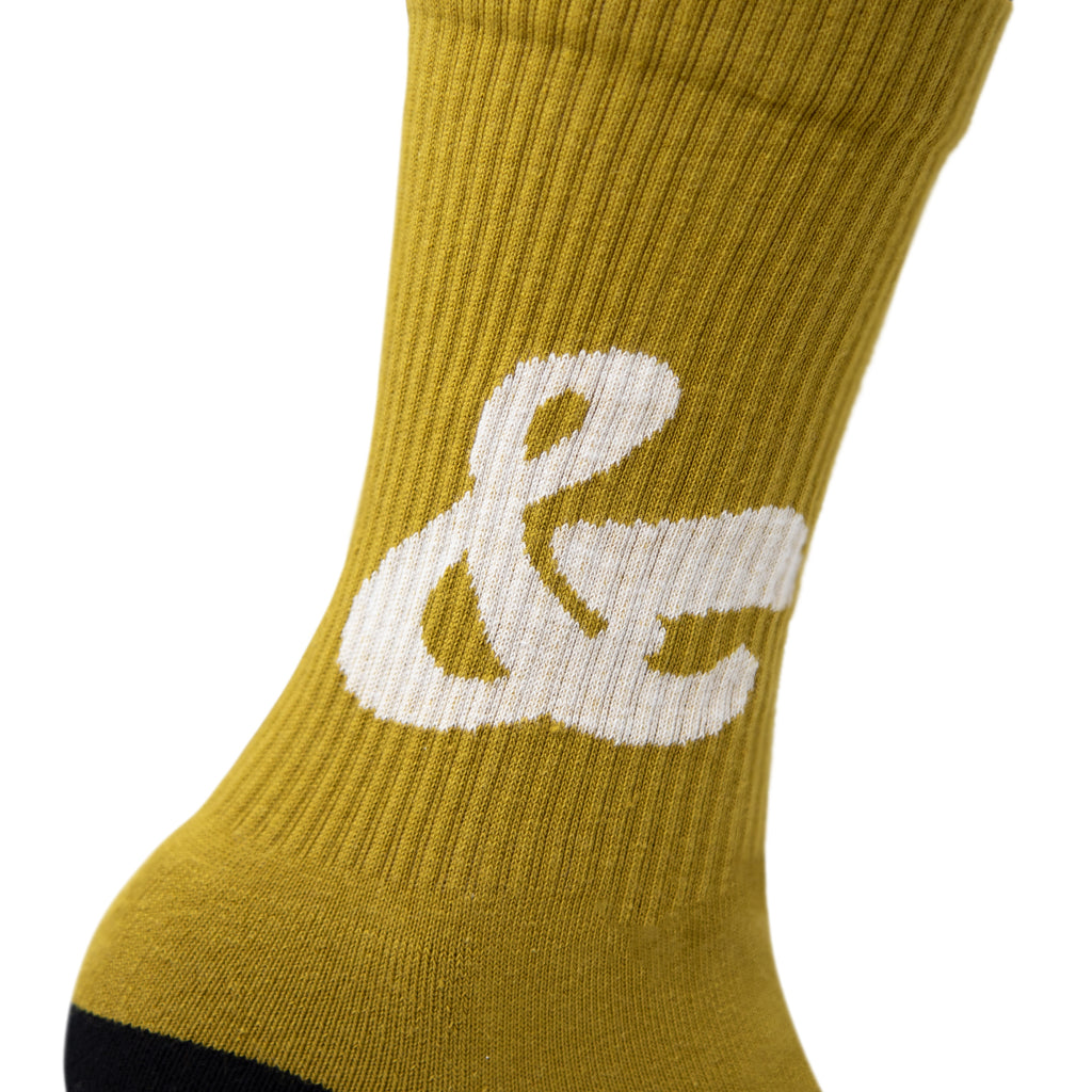 House Industries Ampersand Socks - Dark Ochre