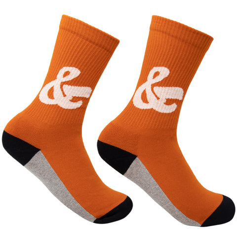 House Industries Ampersand Socks - Orange