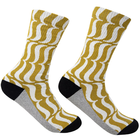 House Industries Brace Socks - Dark Ochre