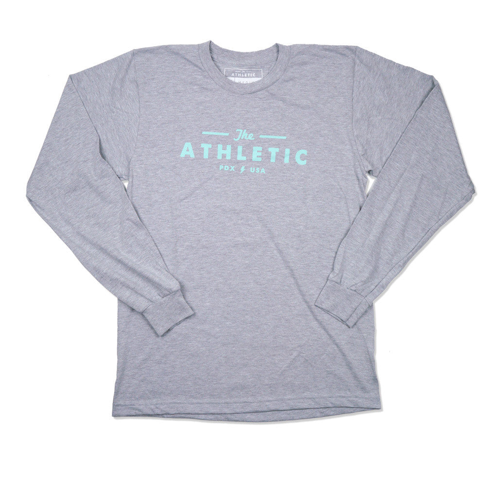 Long Sleeve Logo T-shirt - Heather Grey