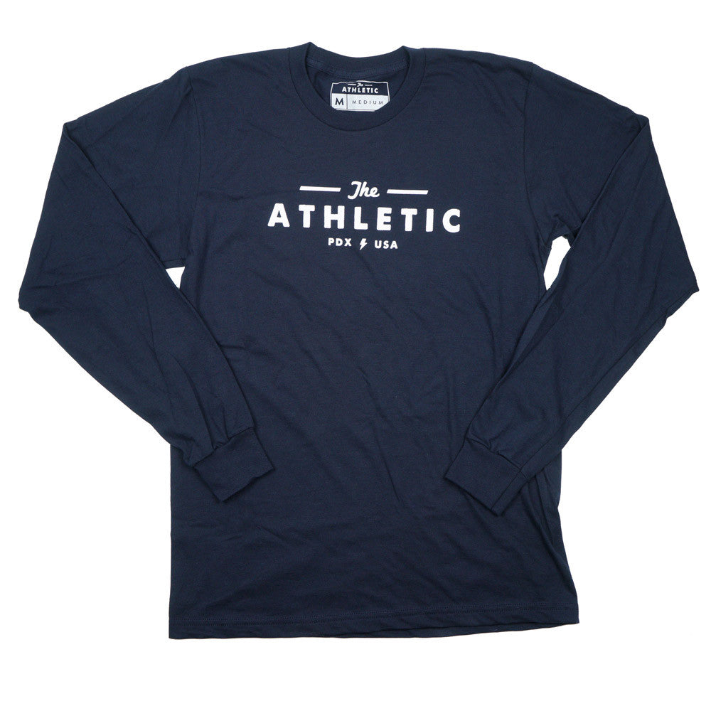 Long Sleeve Logo T-shirt - Navy