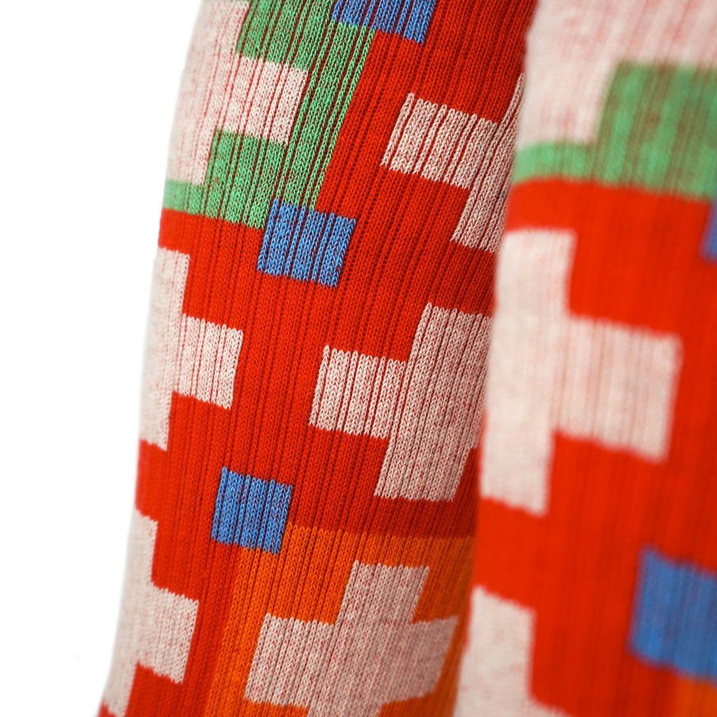 Cabin Comfort Socks - Campfire Red