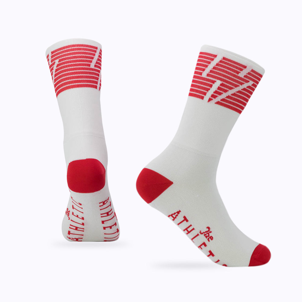 National Collection Sock - White / Red