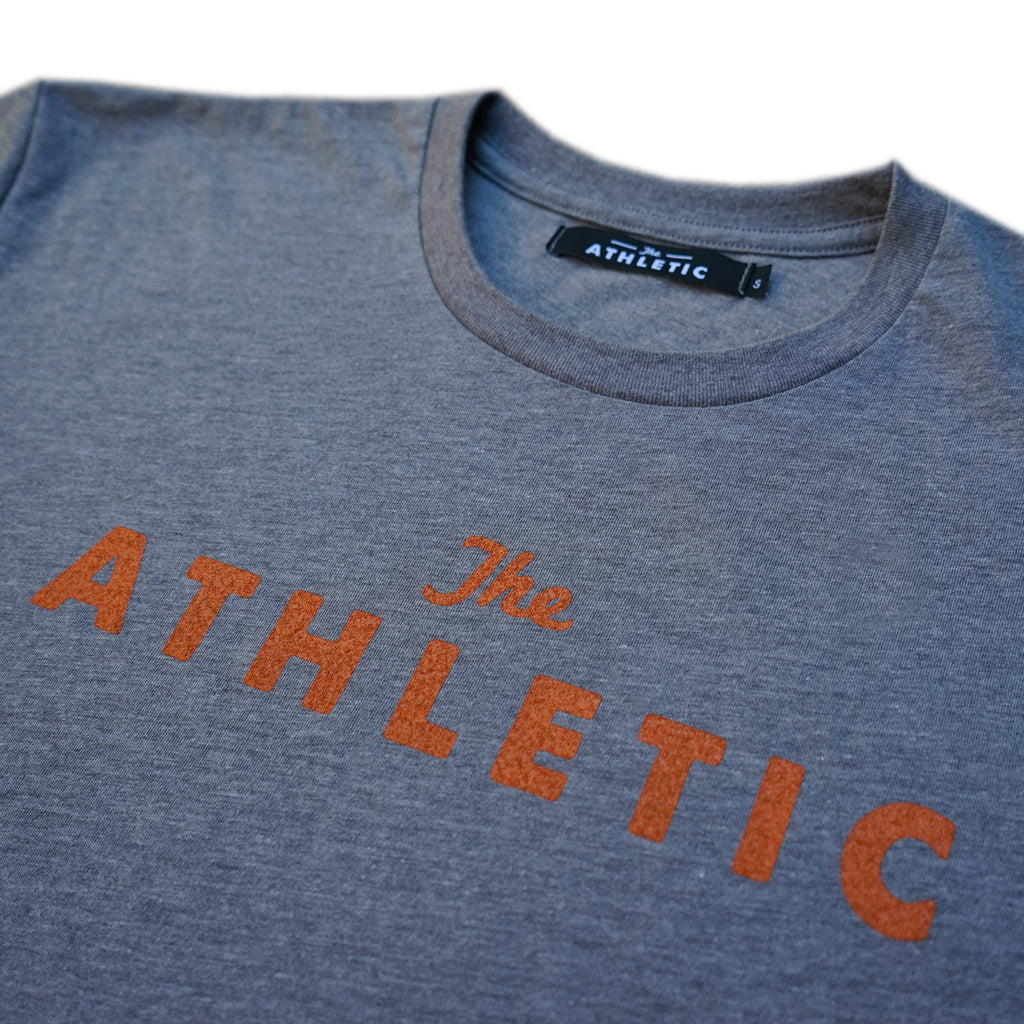 Logo T-shirt Unisex Grey/Rust