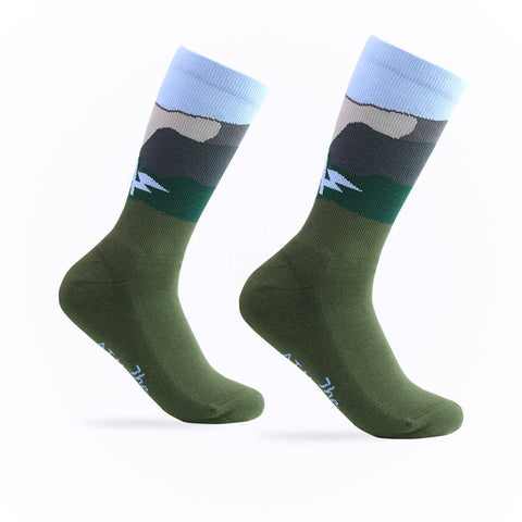 The Athletic Patch Collection Mountains Sock