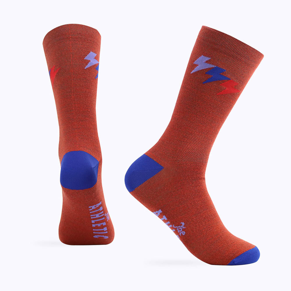 Three Bolt Wool Sock - Terracotta