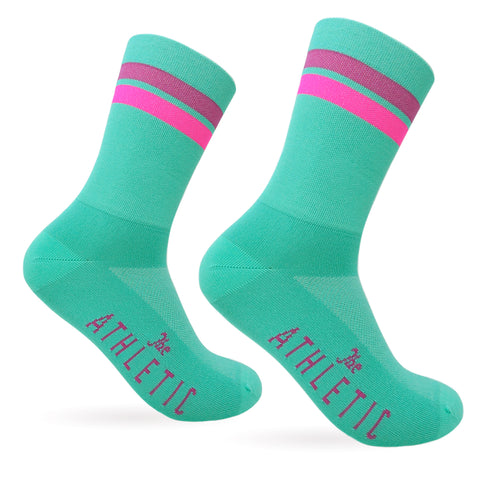 Triple Double Thin Weight Sock - Aquamarine