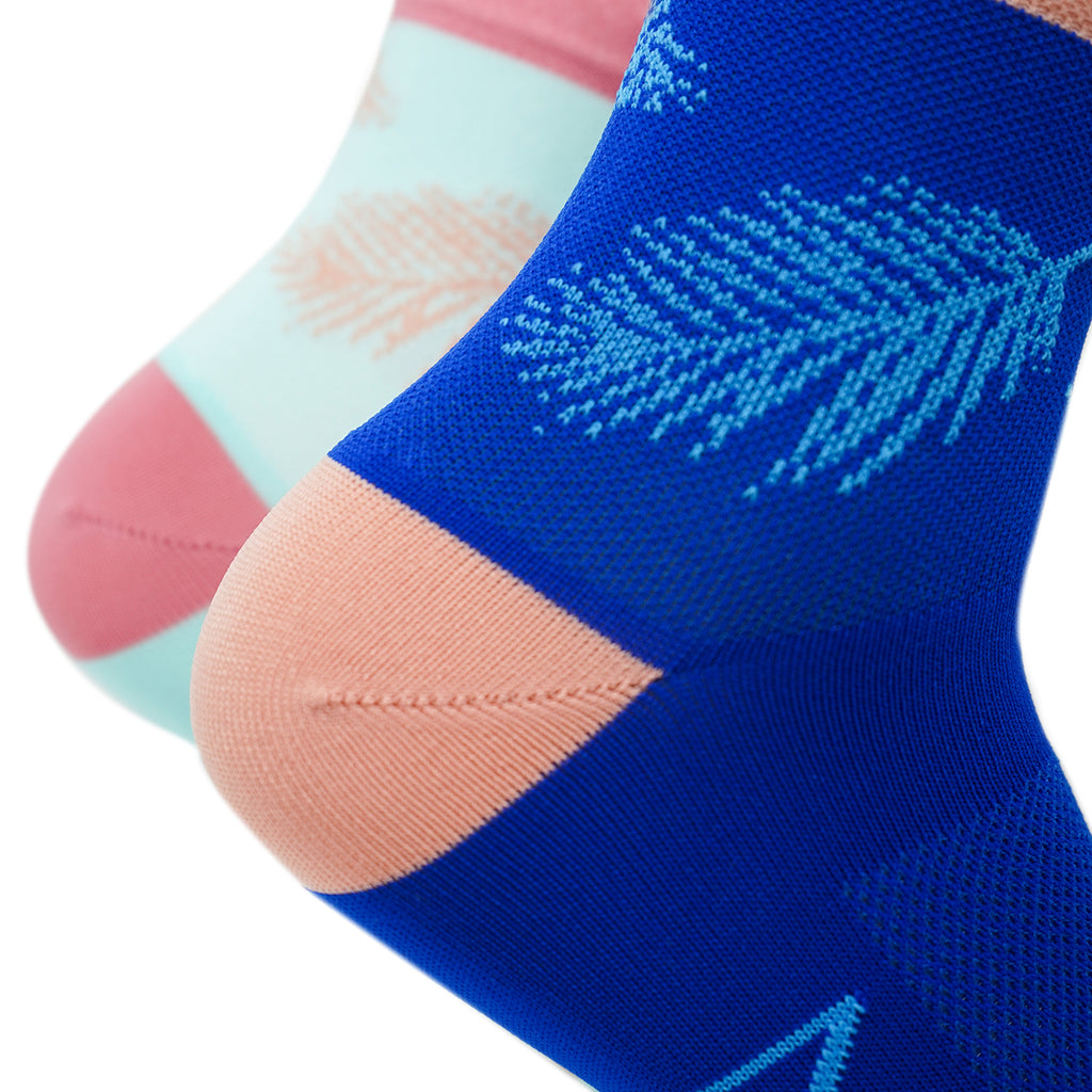 Palms Low Mismatched Sock