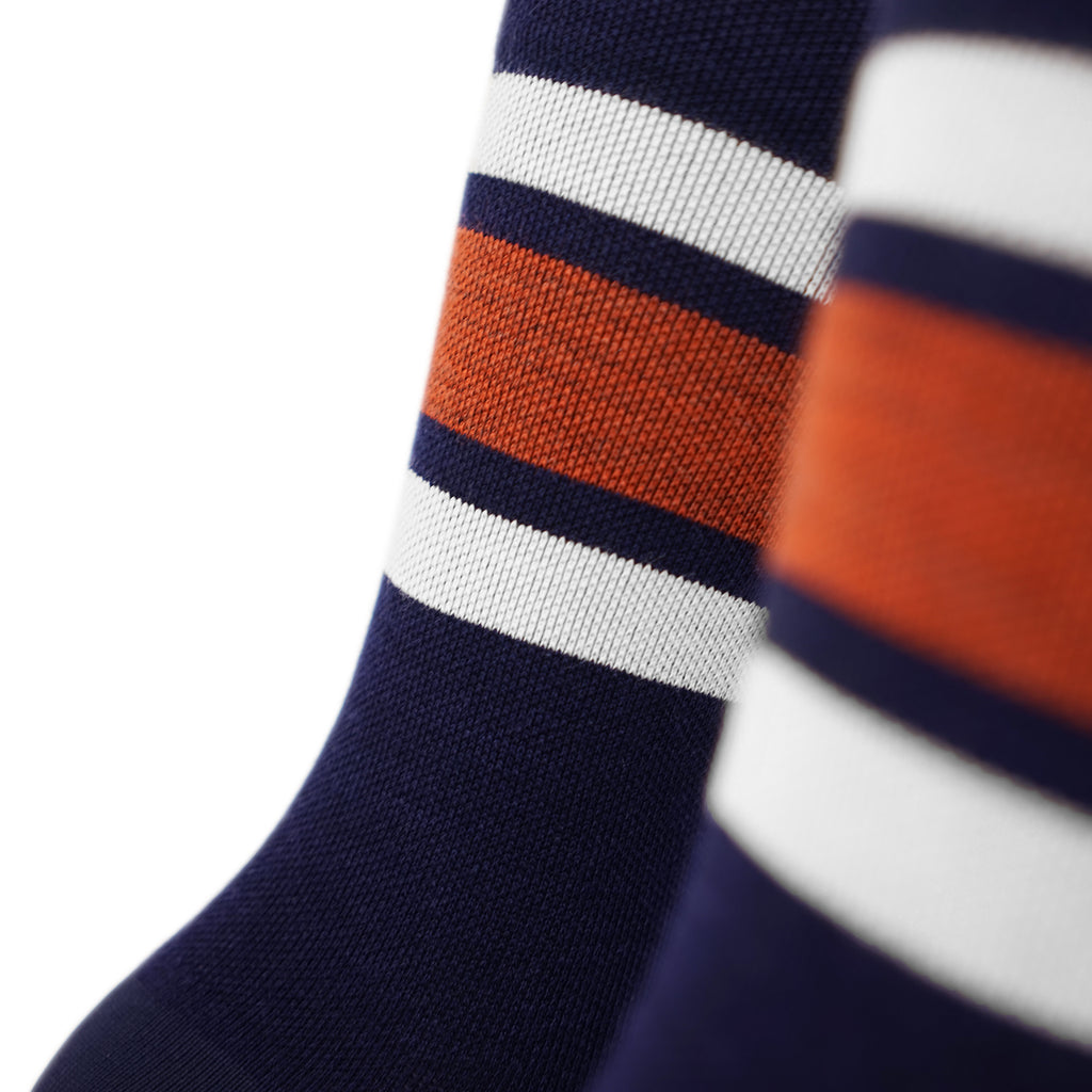 Triple Double Thin Wool Socks - Fun Camp