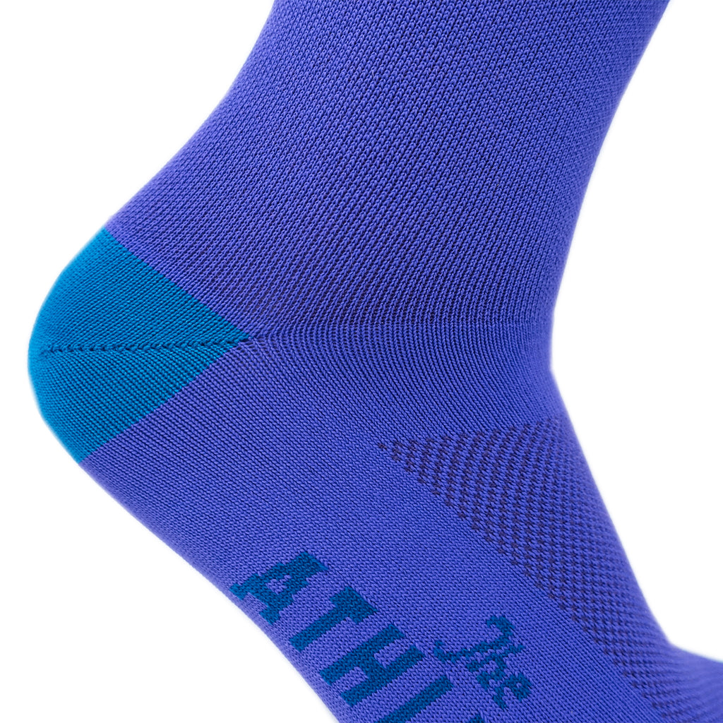 Three Bolt Mismatched Sock - Purple Party