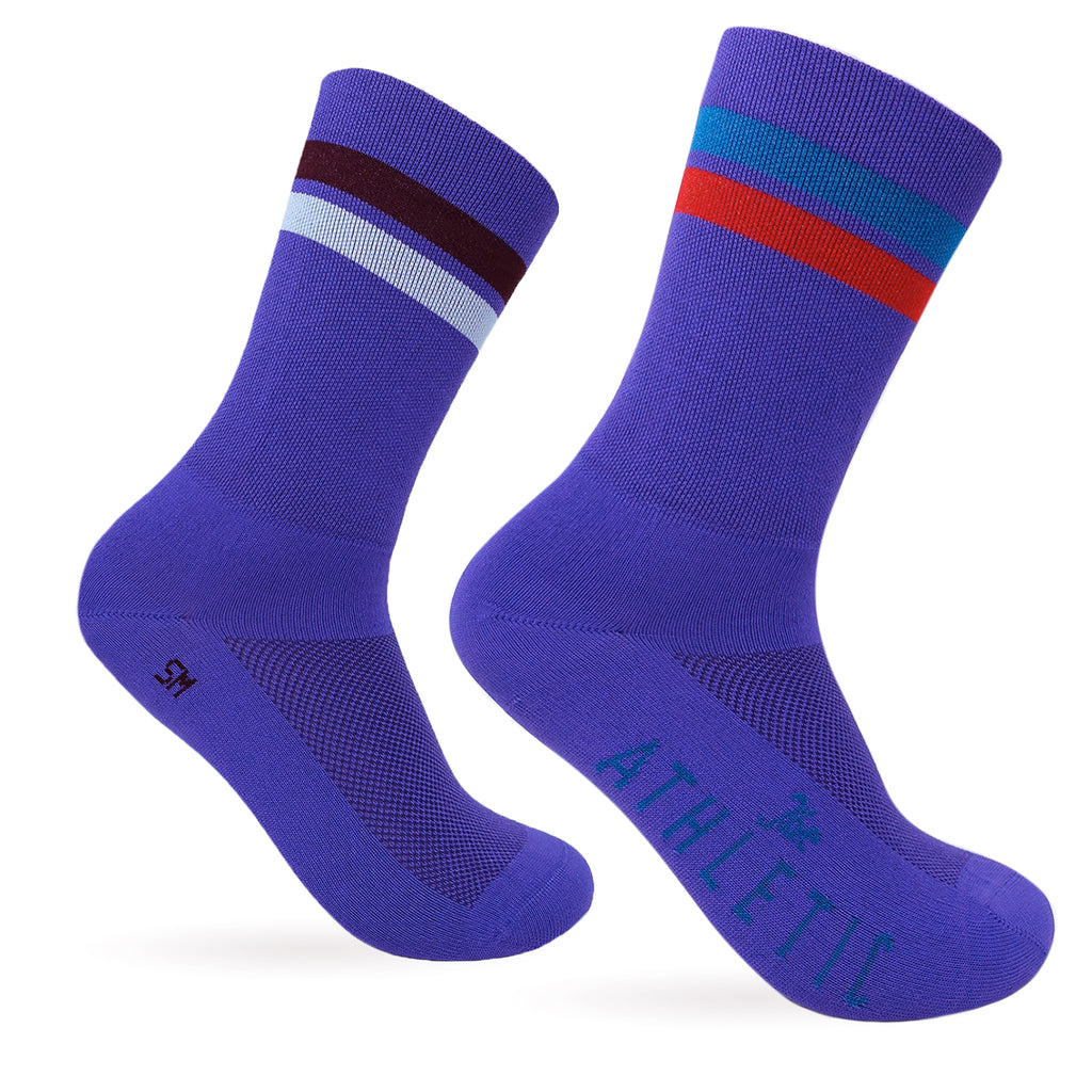 Triple Double Thin Weight Socks - Mismatched Violet