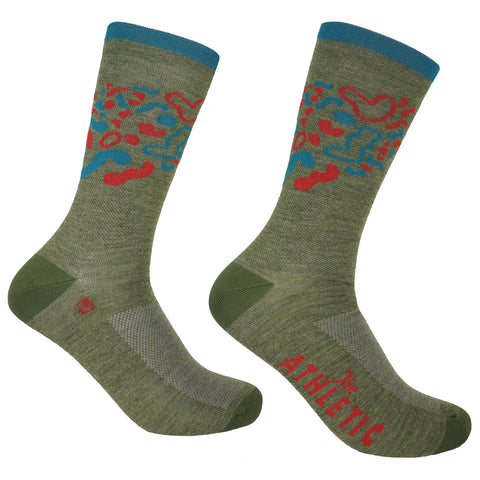 Rink Thin Wool Sock - Winter Garden