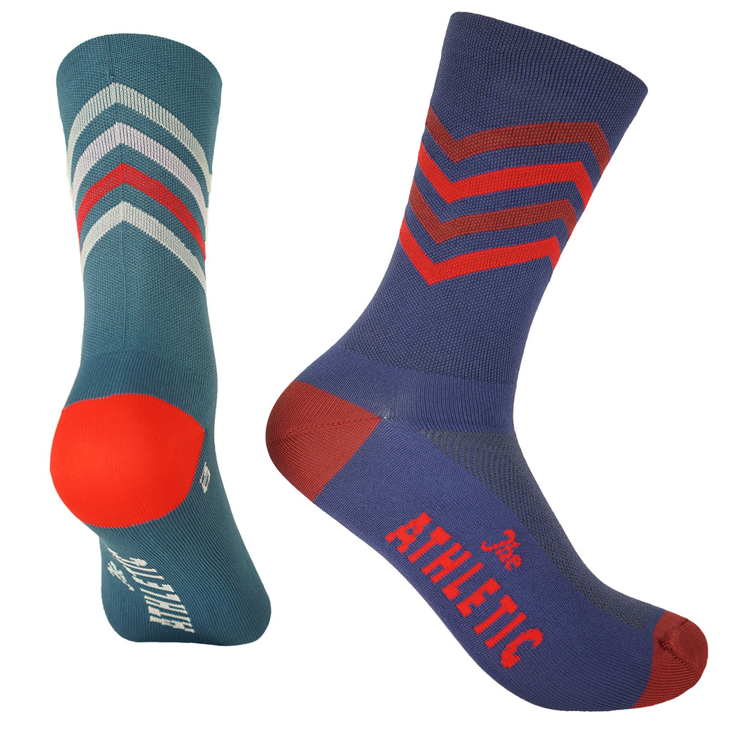 Zig Zag Mismatched Socks - All the Blues