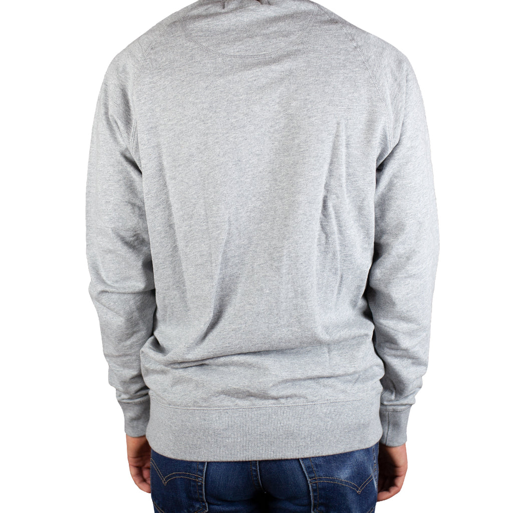 Transmission Red Chenille French Terry Heather Grey Sweatshirt