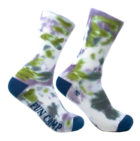 Tie & Dye - Blue Green Purple Wool Socks