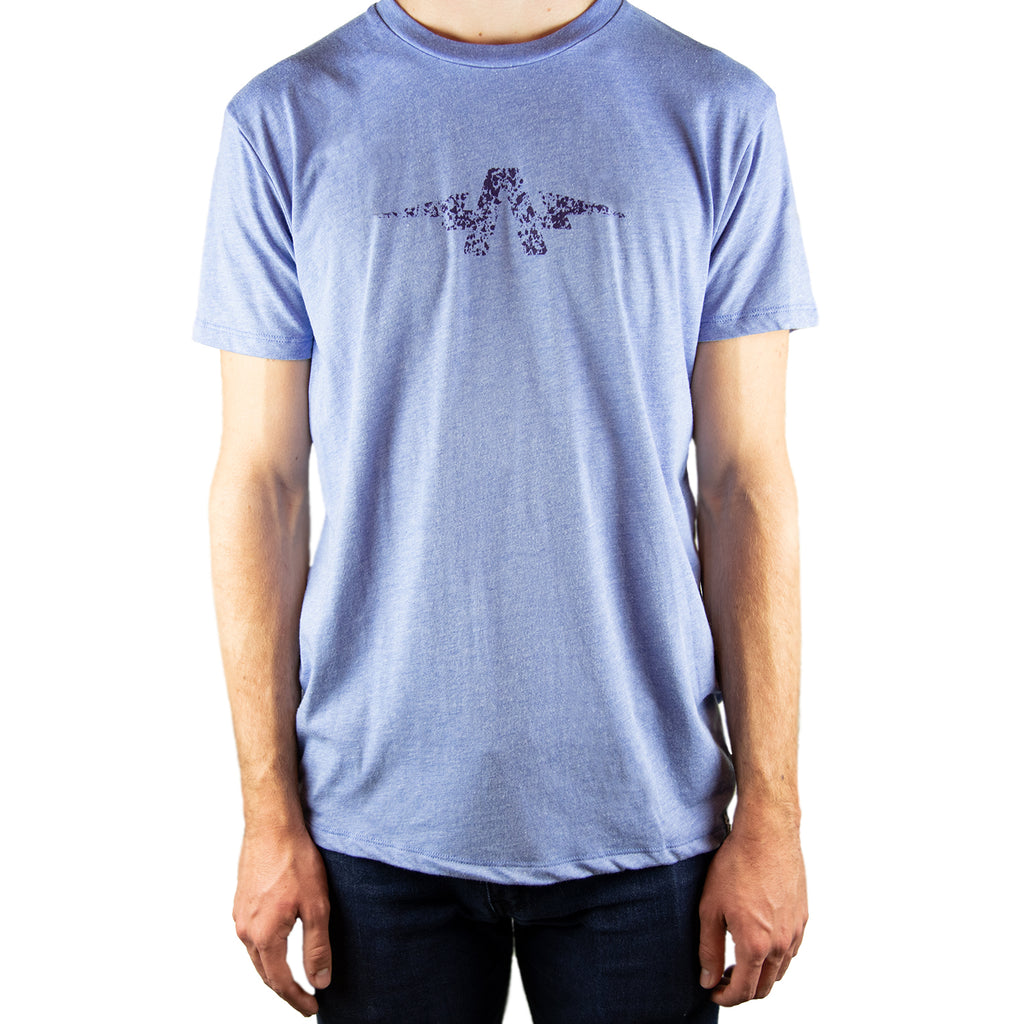 Splash & Splatter Tri-Blend T-Shirt Blue