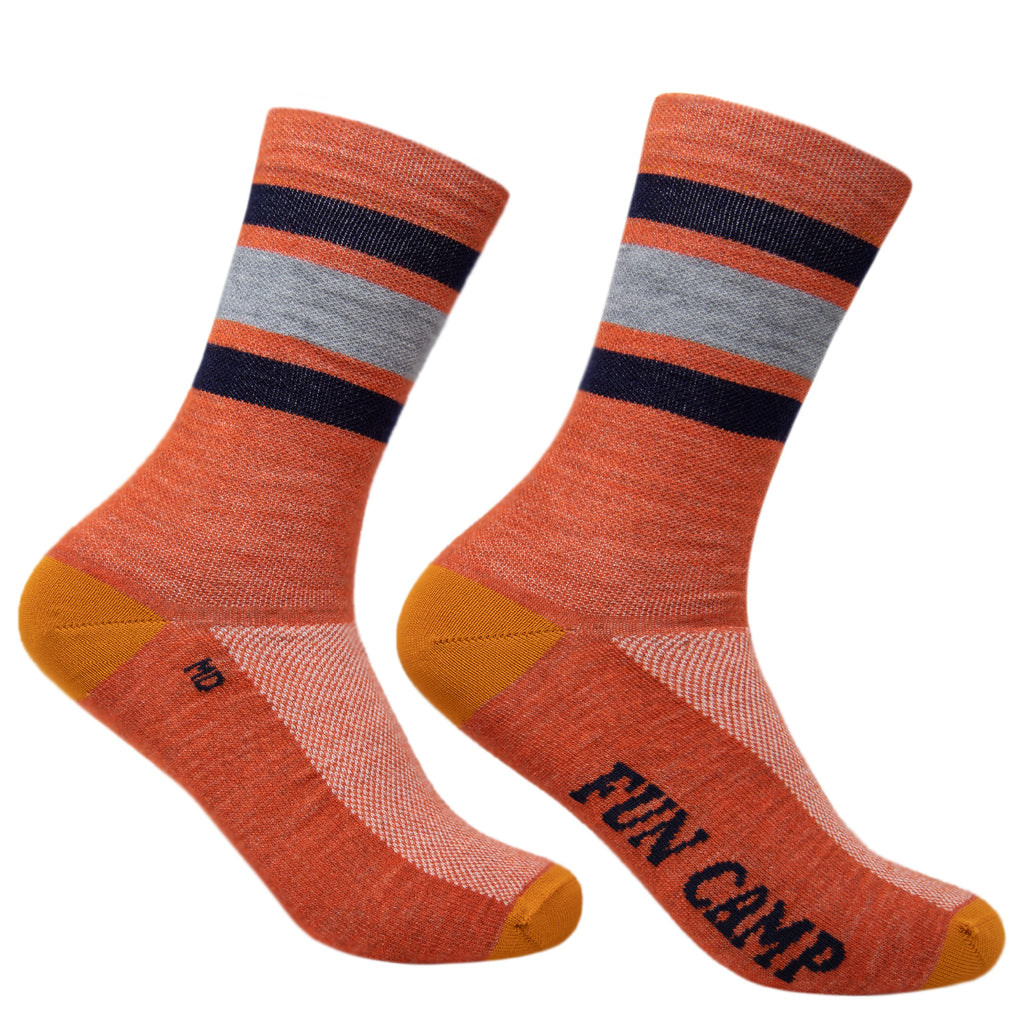 Fun Camp Terracotta Fine Wool Socks