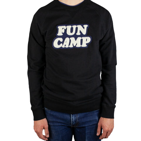 Fun Camp French Terry Black Sweatshirt