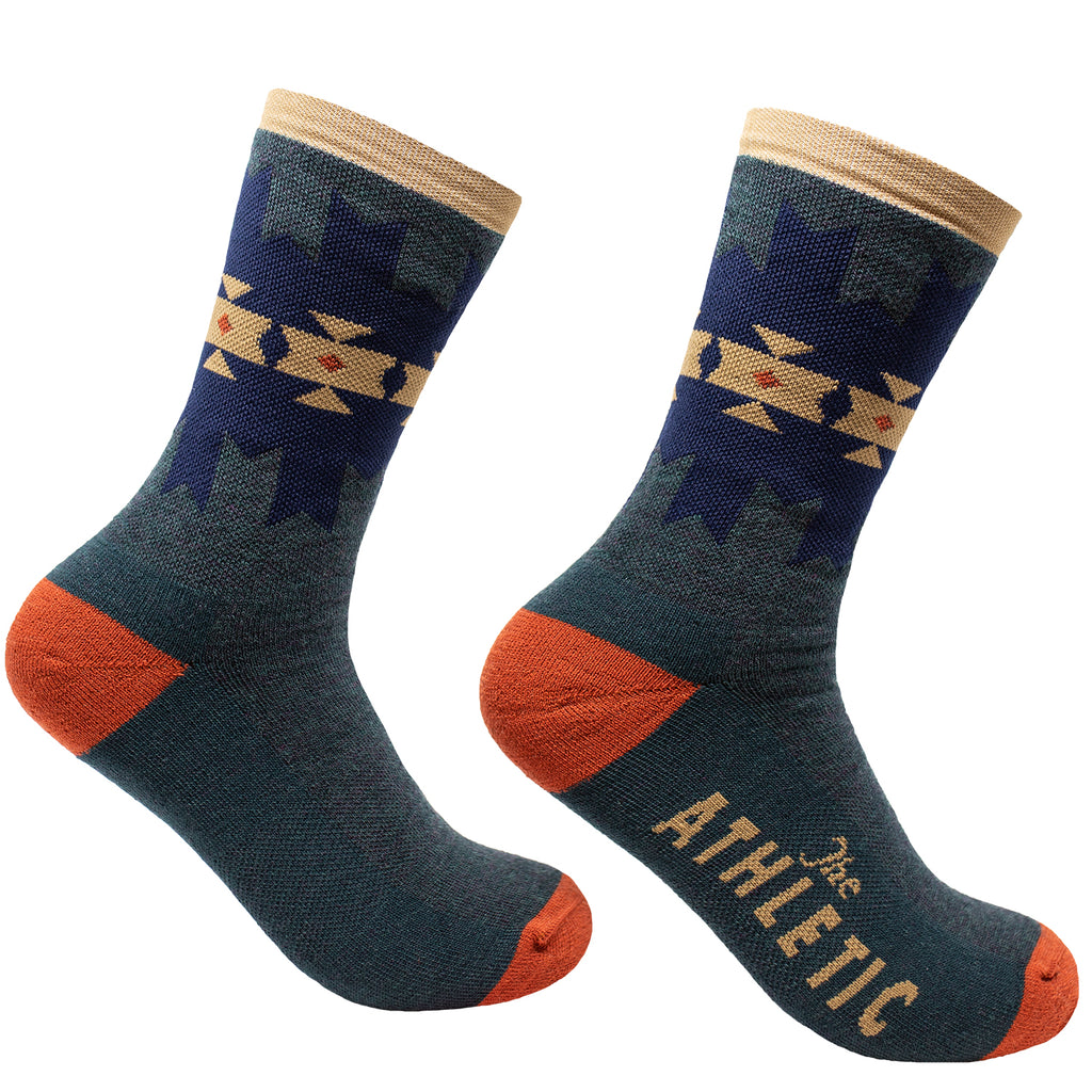 Quilt Wool Socks - Steel